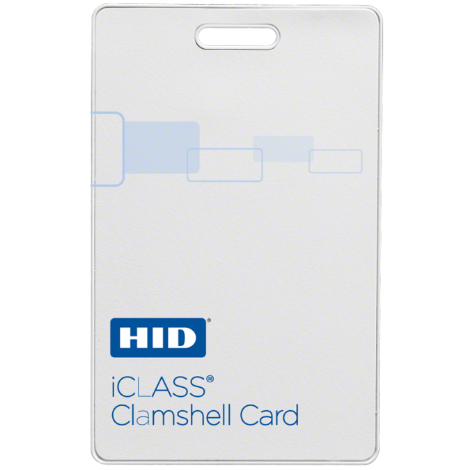 HID 2080 iCLASS Clamshell Smart Card - 2k Bits, 2 App Areas - Programmed
